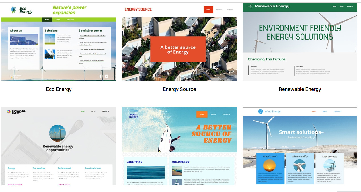 Energy Web Templates